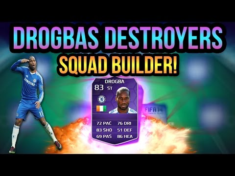 DROGBAS DESTROYERS SQUAD BUILDER! FIFA 14 ULTIMATE TEAM