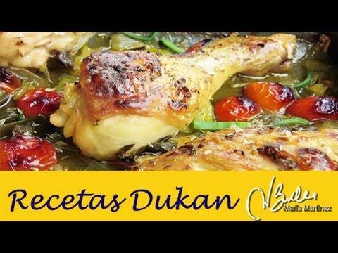 Adelgazar: Pollo a la Provenzal (Dieta Dukan Crucero) / Diet Provenzal Roast Chicken thumbnail