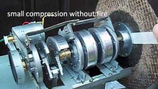 Motor stirling com virabrequim feito em casa - Stirling engine crankshaft with home-made