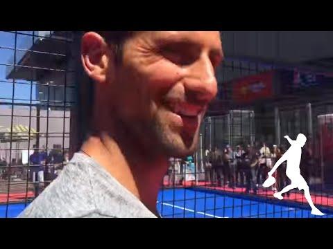 "Novak Djokovic repite en la pista ""Me gusta el padel"" | World Padel Tour."