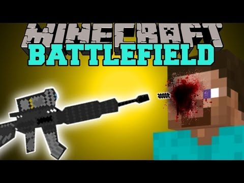 Minecraft: BATTLEFIELD (3D GUNS. CAMO ARMOR. & GRENADES) Mod Showcase