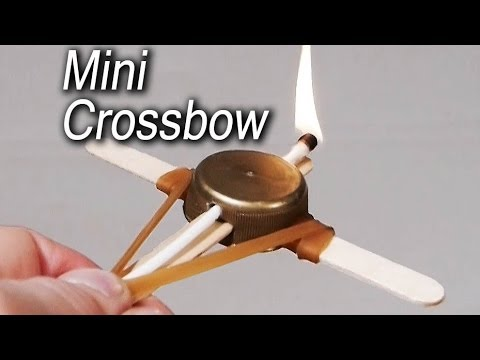 How to make a mini crossbow youtube for Fun things to build with household items