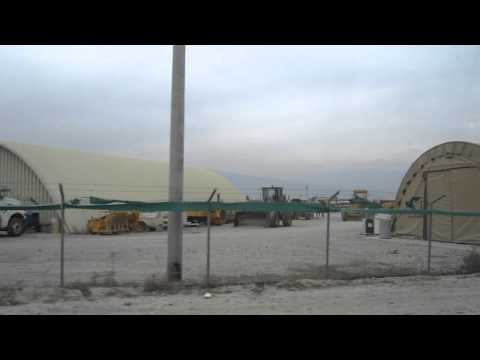 US Army Base Bagram Afghanistan Bus Ride