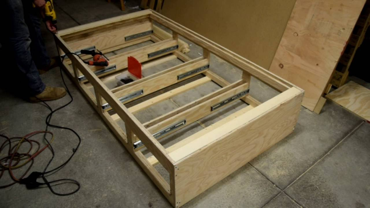 Build Platform Bed With Drawers Wonder