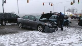 Winter Ice Storm Causes Severe Highway Accidents