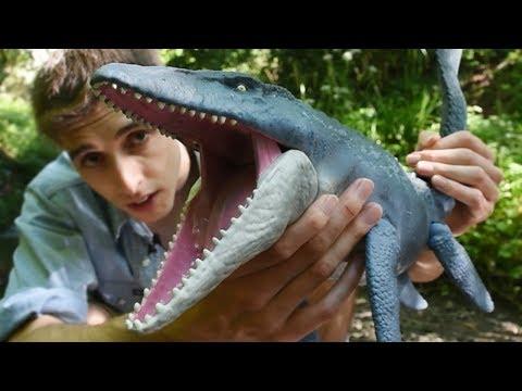 Catching A River Monster! - Mattel Mosasaur Unboxing