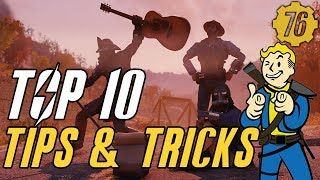 Fallout 76 TOP 10  TIPS & TRICKS: Guide #Fallout76