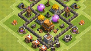 clash of clans layout cv 4 farm guerra push ep1 - Layout Cv 4 Clash Of Clans