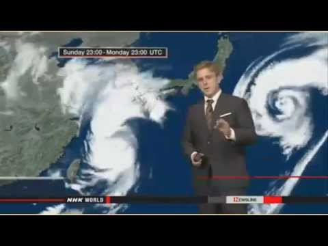 Record Breaking Typhoon Heading For Japan's Sendai Nuclear Power Plant 8/24/15