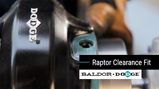 Baldor-Dodge Raptor Coupling : Clearance Fit Installation Module