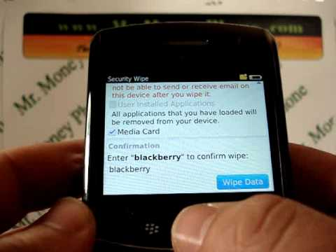HARD RESET your BlackBerry Bold 9650 DATA Wipe Master Reset (RESTORE to FACTORY condition)