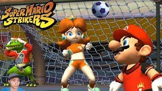 Super Mario Strikers - Final Round Team Mario, Hammer Bro Vs Team Peach, Koopa in Flower Cup
