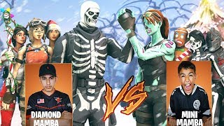 Team Diamond vs Team Mini Pro Fortnite Tournament! Intense Clan Battle Against Little Brother!