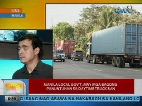 UB: Manila local gov't, may mga bagong panuntunan sa daytime truck ban