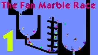The Fan Marble Race Part 1(Algodoo)