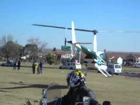 HELICOPTER CRASH SOUTH AFRICA FREESTATE KROONSTAD.