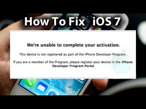 iOS 7 Error Fix - We're Unable To Complete Your Activation - iPhone 5/4s/4 & iPod Touch 5g
