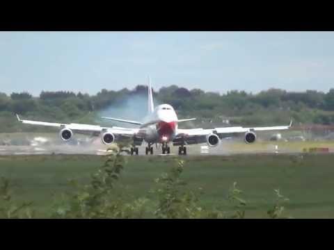 [Stopover] Oman Royal Flight B747 (A4O-OMN) Landing and Takeoff @ Hamburg Airport