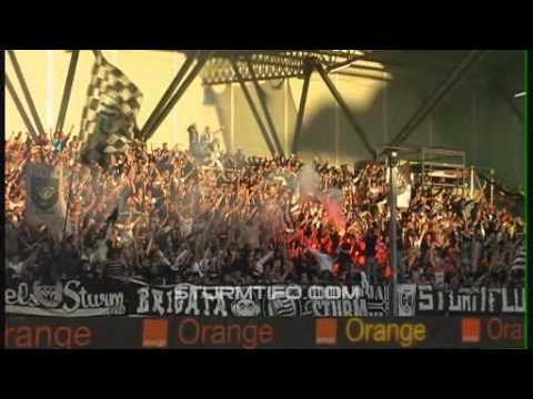 Nordkurve Graz beim 2-0 Auswärtssieg in Wien! powered by www.sturmtifo.com.