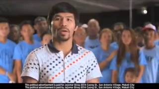 ONLY BINAY - Pacquiao endorses Binay for president in latest ad