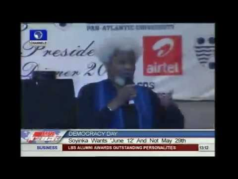 June 12 Is Democracy Day, May 29 Is Fake - Soyinka