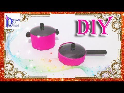 Как сделать сковородку для куклы
