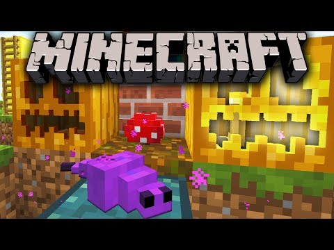 Minecraft 1.8 Snapshot: Endermite Chest Spawn 3D Pumpkin Bookshelf Flower Pack Custom Terrain