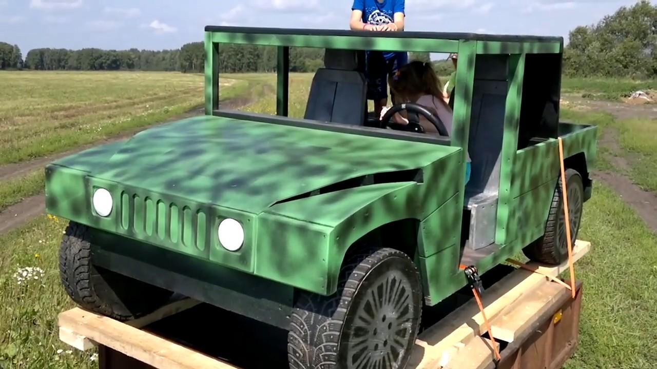 Автомобиль своими руками для детской площадки