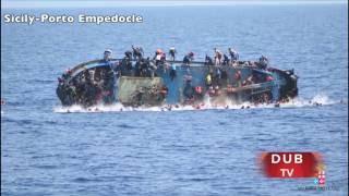 Libya Migrant Ship with 500 migrants capsizes near Sicily !