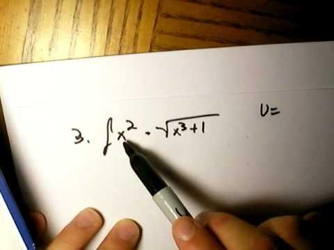 Calculus practice problems u substitution