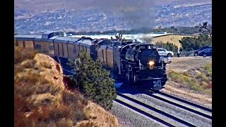 BIG BOY & CONSIST! UP 4014 IN BARSTOW, CA & HESPERIA, CA!