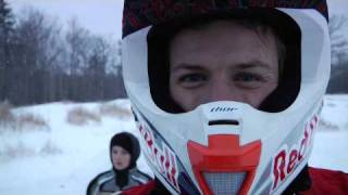 Double backflipping a snowmobile is not easy.