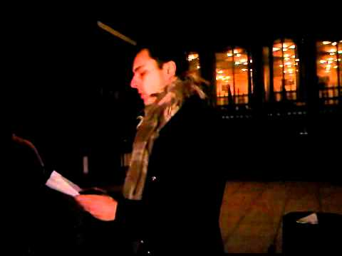 Actors for Human Rights at London Guantánamo Campaign candlelight vigil (3 February 2012)