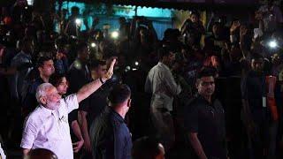 रांची: PM नरेंद्र मोदी के रोड शो में उमड़ा जनसैलाब ।। पार्ट 2