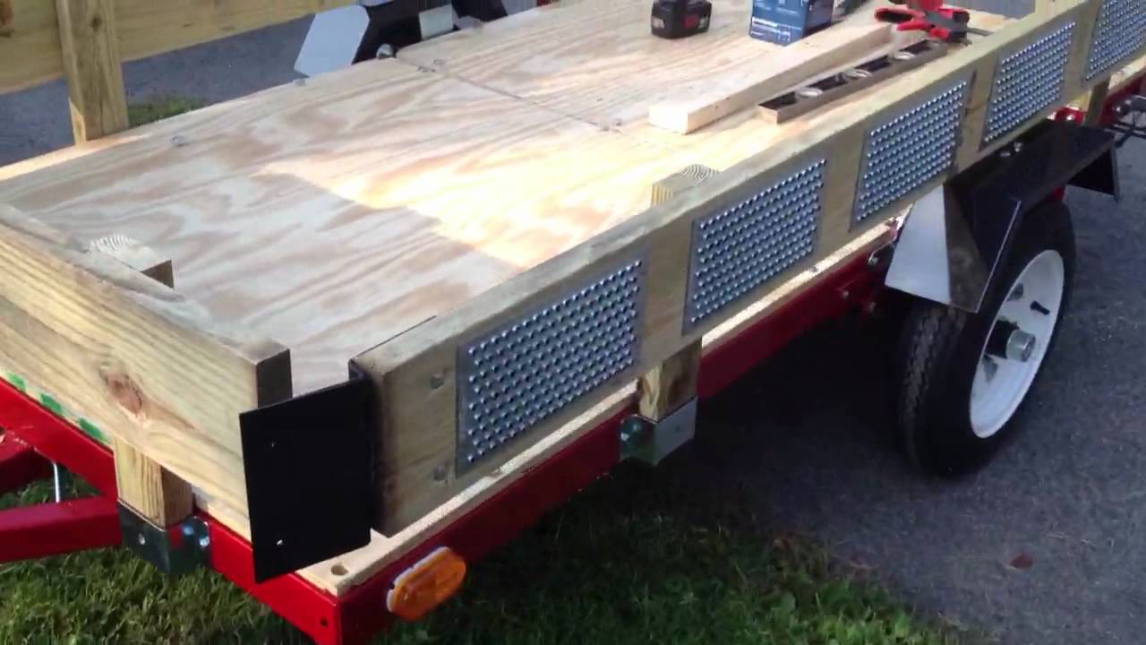 Norther Industrial 4x8 Folding Trailer Deck Youtube