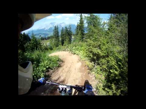 Planai bikepark, EXTREME Downhill MTB From Top station to Middle station 'Pro Line' (Austria)
