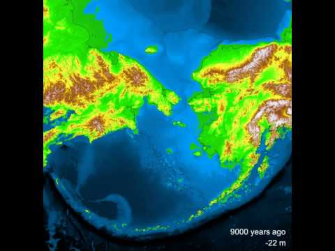 Bering Land Bridge - postglacial flooding