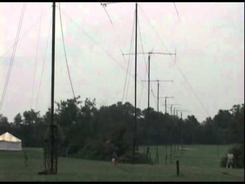 10-Tower Antenna Array at W3AO Field Day 2004