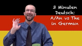 A/An vs The in German - 3 Minuten Deutsch Lesson #8 - Deutsch lernen