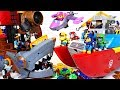 Treasure was stolen! Shark Bite Pirate ship VS Paw Patrol transforming sea patroller - DuDuPopTOY