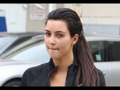 Kim k without makeup