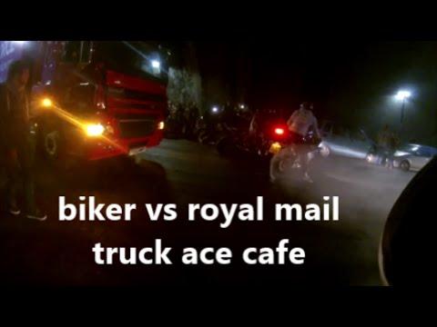 ACE CAFE INCIDENT: CHAV  VS ROYAL MAIL TRUCK 26/06/2015