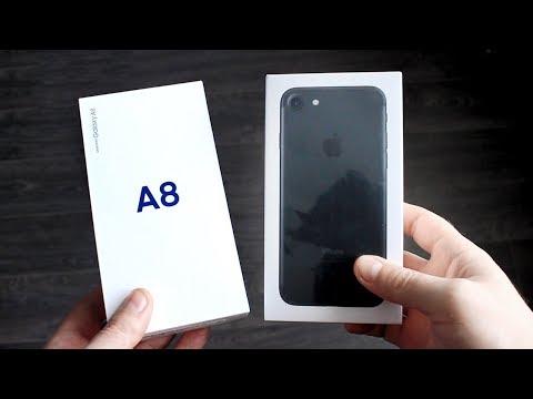 Galaxy A8 2018 vs iPhone 7 - Что Выбрать?