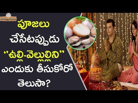పూజలు చేసేటప్పుడు ఉల్లి వెల్లుల్లిని ఎందుకు తీసుకోకూడదు? | Why Should We Avoid Onions In Hindu Pooja