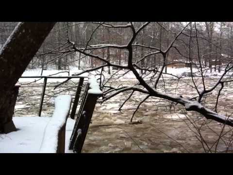 Tygart Valley River ice flow