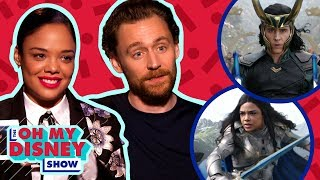 Tom Hiddleston and Tessa Thompson Play Loki or Low-key   Oh My Disney