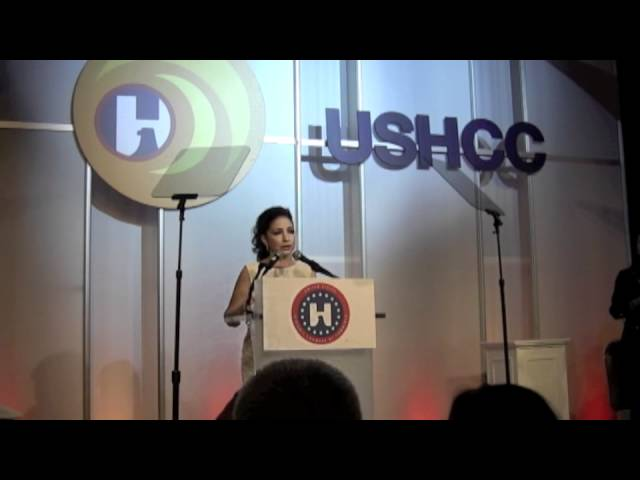 Gloria Estefan remarks for &quot;Ultimate Latina&quot; award given by USHCC