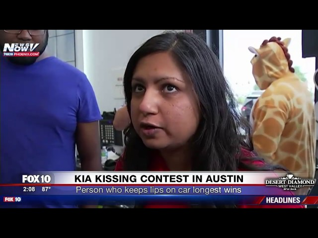 FINAL Moments of Kia Car Kissing Contest in Texas - WINNER Revealed (FNN)