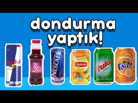 İçeceklerden Dondurma Yaptık (Şalgam, Red Bull, Fruko, Fanta, Lipton)