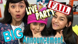 Live Stream FAIL - YouTube Play Button: Big Announcement // GEM Sisters